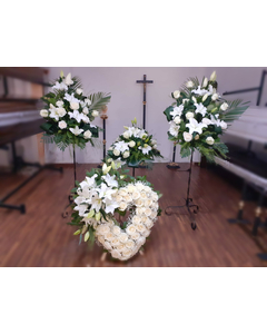 Aranjament Funerar White Flower Pack